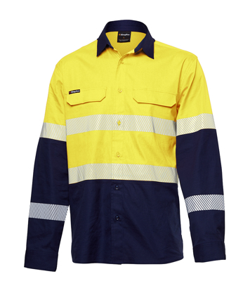 Picture of King Gee-K54028-Workcool Pro Hi Vis Reflective Shirt L/S