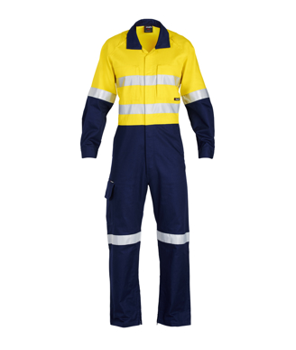 Picture of King Gee-K51540-Workcool 2 Reflective Spliced Combination Overall