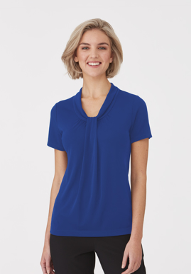 Picture of City Collection-2222-Pippa Knit Short Sleeve Blouse