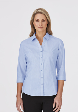 Picture of City Collection-2265-City Stretch® Pinfeather 3/4 Sleeve Shirt