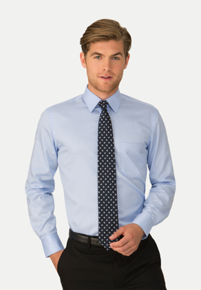 Picture of City Collection-4111 LS-ETI® Capri Check Mens Long Sleeve Shirt