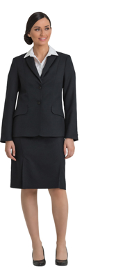 Picture of Corporate Comfort-FJK35-4060-Wool Blend Ladies 2 Button  Jacket