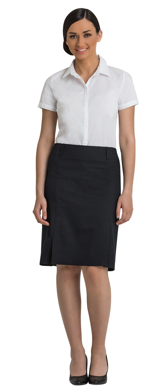Picture of Corporate Comfort-FSK29-4060-Wool Blend Ladies Knee Length Box Pleat Skirt