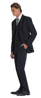 Picture of Corporate Comfort-MTRO-690-Mens Flexi Waist  Harry Classic Pant