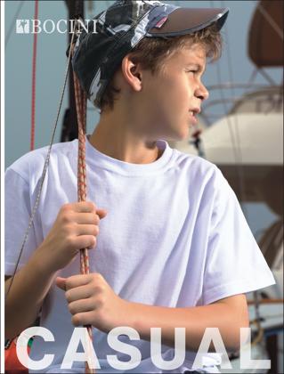 Picture of Bocini-CT0300-Kids Plain Cotton Tee Shirt