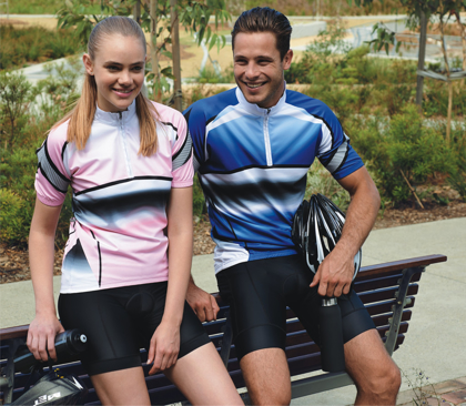 Picture of Bocini-CT1465-Unisex Adults Cycling Jersey