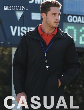 Picture of Bocini-CJ1464-Unisex Adults Coaches Jacket