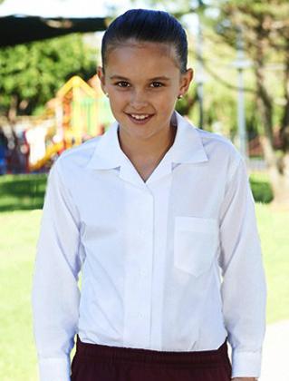 Picture of Bocini-CS1310-Girls Long Sleeve School Shirt