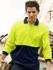 Picture of Bocini-SP0536-Unisex Adults Hi-Vis Polyface / Cotton Back Polo - L/S
