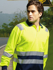 Picture of Bocini-SP0537-Unisex Adults Hi-Vis Polyface / Cotton Back Polo With Reflective Tape