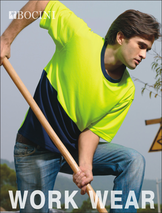 Picture of Bocini-ST0691-Unisex Adults Hi-Vis Safety Tee