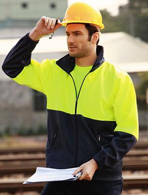 Picture of Bocini-SJ1237-Unisex Adults Hi-Vis Full Zip Fleece