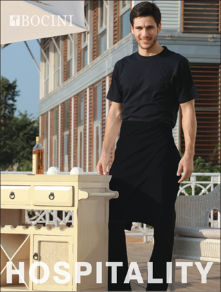 Picture of Bocini-WA0604-Polyester Drill Half Apron - With Pocket
