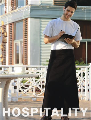 Picture of Bocini-WA0624-Polyester Drill Continental Apron-With Pocket