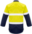 Picture of Syzmik-ZW133-Mens FR Closed Front Hoop Taped Spliced Shirt