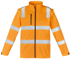 Picture of Syzmik-ZJ780-Unisex Hi Vis Vic Rail 2 in 1 Softshell Jacket