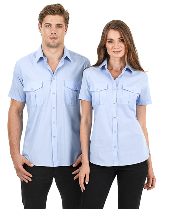 Picture of Identitee-W60(Identitee)-Men's Short Sleeve Cross Hatch Casual Shirt
