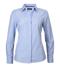 Picture of Identitee-W63(Identitee)-Ladies Long Sleeve Cross Hatch Dress Shirt