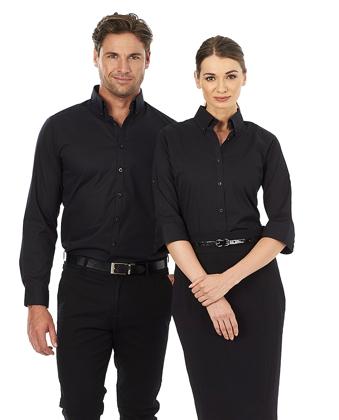 Picture of Identitee-W68(Identitee)-Ladies 3\4 Sleeve Stretch Shirt