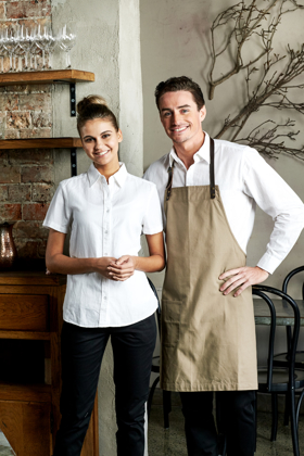 Picture of Identitee-W74(Identitee)-Ladies Short Sleeve Linen Cotton Shirt