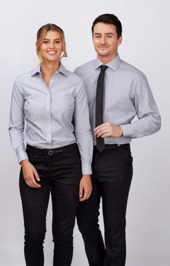 Picture of Identitee-W80(Identitee)-Mens Hunter 100% Cotton Premium Dobby Shirt