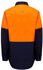 Picture of Hardyakka-Y04605-HIVIS LONG SLEEVE HEAVY WEIGHT 2 TONE COTTON DRILL SHIRT