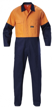 Picture of Hardyakka-Y00270-HI VIS TWO TONE COTTON DRILL COVERALL